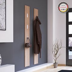 modern wooden coat rack with folding metal hooks Home Engineering, Small Space Interior Design, Wardrobe Design, House Entrance, Interior Design Living Room, Furniture Design, Room Decor, House Design, Architecture