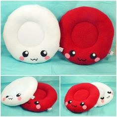 Blood cells - Red and White - plush toys - pillows from Plusheez on Etsy. Saved to Things I want as gifts. Preschool Body Theme, White Blood Cells, Pediatric Nursing, Kawaii, Cute Plush, Plushies, Toys, Red And White, Kids Room