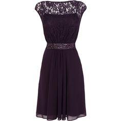 Coast Lori Lee Short Dress ($160) ❤ liked on Polyvore featuring dresses, purples lilacs, cocktail dresses, short purple dresses, evening dresses, lace dress and short evening dresses
