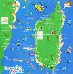 cozumel island tourist map
