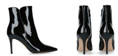 Gianvito Rossi Patent Levy Ankle Boots 85