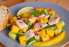 Matjessalat mit Mango und Gurke