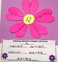 The Lesson Plan Diva: Blooming into Spring- Contractions, Balanced Equations, and Craftivities! Put the second word of the contraction in the middle for example 'is' the petals are all of the contractions that use 's' she's he's Math Resources, Math Activities, Math Strategies, Math Worksheets, Balancing Equations, Math Classroom, Classroom Ideas, Future Classroom, Second Grade Math