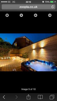 My amazing hot tub that I sit in with Scott under the stars