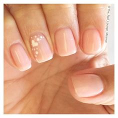 28 Glam Wedding Manicure Ideas That Totally Nail It ❤ liked on Polyvore featuring beauty products and nail care
