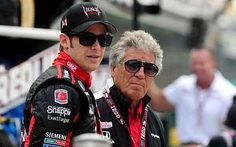 Marco Andretti, with his grandfather Mario at Indianapolis Motor Speedway.
