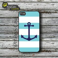 iPhone 5 Case, Aqua Nautical iPhone Case Hard