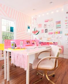 bright fun office - color, pattern, texture // ban.do office by emily henderson