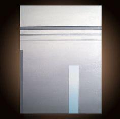 Original Abstract Minimalist Geometric Grey Painting by LenDickson