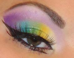 Rainbow [Purple + Yellow + Green + Blue] Eyeshadow--DOIN IT!!!(: