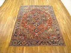 "Heriz & Serapi 9' 8"" x 7' 1"" Antique Persian Heriz at Persian Gallery New York - Antique Decorative Carpets & Period Tapestries"
