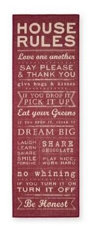 House Rules Red Runner from Next