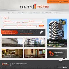 Site da imobiliária Isdra Imóveis: www.isdraimoveis.com.br