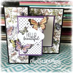 Love this double Z fun fold card I made using the Botanical Butterfly DSP and Butterfly Gala stamp set from Stampin' Up! Z Cards, Fun Fold Cards, Your Cards, Baby Cards, Tarjetas Pop Up, 3d Quilling, Greeting Cards Handmade, Butterfly Cards Handmade, Stamping Up Cards