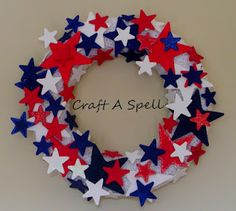 4th of July with wooden stars. I think I see my daughter choosing to make this one with me this year just so she can paint all the stars. *