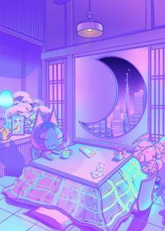 Cute Pastel Wallpaper, Anime Scenery Wallpaper, Aesthetic Pastel Wallpaper, Kawaii Wallpaper, Aesthetic Wallpapers, Cyberpunk Aesthetic, Purple Aesthetic, Aesthetic Art, Aesthetic Anime
