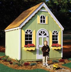 Lets not forget kids. A shed like this one can be transformed into a storage solution and play time destination. Just add some decorative trim, flags and stickers and you have the perfect playhouse for kids.