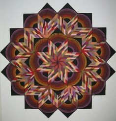 Center radiating quilts