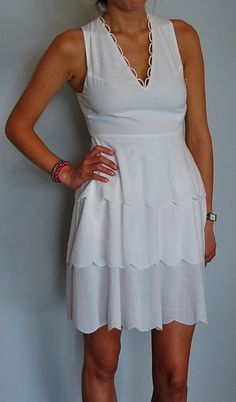 White open back dress by Marysia swim, great for summer parties!