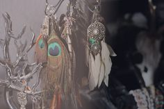 Interior inspiration, jewelry, feathers