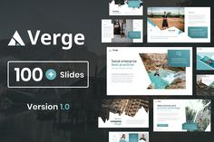 Verge is a multipurpose template that can be used for any type of presentation. This unique template gives you many possibilities of creativity. All shapes, elements, icons are vector editable and easy to change size and colors. Create Powerpoint Template, Free Powerpoint Presentations, Creative Powerpoint, Powerpoint Themes, Presentation Design Template, Good Presentation, Design Templates, Business Brochure, Business Card Logo