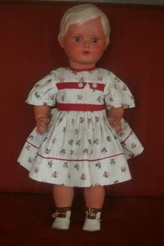"ANTIQUE GERMAN TURTLE MARK CELLULOID DOLL SCHILDKROT 19"" No. 46/49 Minty Z"