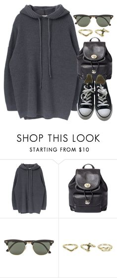 """Sin título #12560"" by vany-alvarado ❤ liked on Polyvore featuring Coach, Ray-Ban, NLY Accessories and Converse"