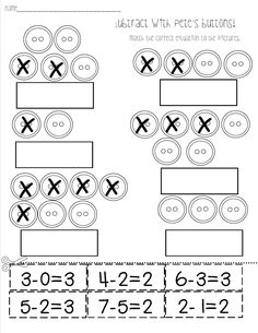 Mrs. Bohaty's Kindergarten Kingdom great subtraction worksheets and activities
