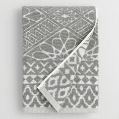 One of my favorite discoveries at WorldMarket.com: Gray Madeleine Sculpted Bath Towel