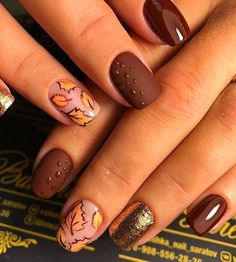 Best Fall Nail Designs To Make You Charming * 2019 - SelectedIns : [ Bes. - Best Fall Nail Designs To Make You Charming * 2019 – SelectedIns : [ Best Fall Nails Desi - Fall Acrylic Nails, Autumn Nails, Winter Nails, Nails Design Autumn, Fall Nail Art Autumn, Fall Gel Nails, Fall Nail Art Designs, Pretty Nail Designs, Nail Art For Fall