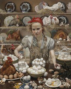 Jerarquía en el gallinero - Andrea Kowch