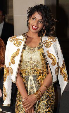 Versace guests: Versace: Front Row - Paris Fashion Week Haute Couture F/W 2013