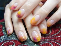 Hay my pretty dear today here we bring watercolor nail art tutorial. Easy to do on self bases colorful nail art that impress other you can look below. With this nail art you can buy the opportunity to play with colors and get favorite colors. In our colle Nail Art Designs, French Manicure Designs, Nails Design, Love Nails, Pretty Nails, My Nails, Pink Nails, Print No Instagram, Nailart