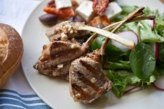 Lamb Cutlets with Sun-Dried Tomato, Feta, and Olive Stuffing Weber Q Recipes, Lamb Recipes, Meat Recipes, Weber Bbq, Stuffing Recipes, Kalamata Olives, Feta, Yummy Food, Times