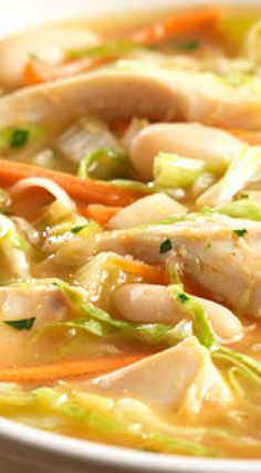 White Bean Soup with Chicken ❊