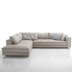 Stunning Cream Leather Corner Sofa click the above image to enlarge lxzojkg - Home Design Corner Sofa Chaise, Grey Corner Sofa, Gray Sofa, Contemporary Furniture Stores, Contemporary Sofa, Modern Sofa, Unique Furniture, Grey Leather Corner Sofa, Leather Sofa