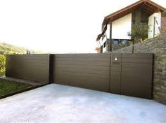 Resultado de imagen para cerramientos exterior Entrance Gates, House Entrance, Mini Loft, Outdoor Doors, Boundary Walls, Privacy Walls, Front Fence, Driveway Gate, Door Gate
