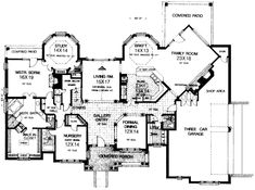 Planes europeos casa de estilo - 4166 pies cuadrados de construcción Home, de 2 pisos, 5 dormitorios y 3 3 Baño, 3 Garaje puestos por planes de vivienda del monstruo - Plan de 8-586