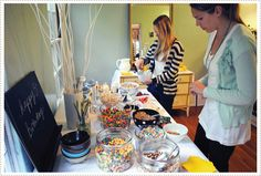 Cereal bar for a birthday party!