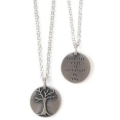 Look what I found at UncommonGoods: 'Remember What Is Important' Necklace for $80.00