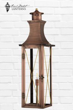 This sleek contemporary designed lantern features traditional lines that make it well styled for both classic and modern styled homes.Customize this fixture for your exterior lighting needs! Modern Lanterns, Copper Lantern, Gas Lights, Gas And Electric, Candelabra Bulbs, Hanging Lanterns, Exterior Lighting, Contemporary Design, Wall Mount