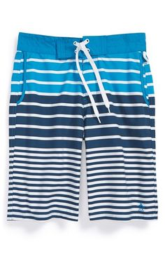 Boy's Original Penguin Stripe Board Shorts