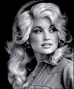 Dolly Parton....denim and big hair. . .