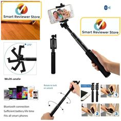 Extendable Bluetooth Selfie Stick Remote Handheld Monopod BT Remote Shutter #iXCC