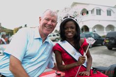 His Excellency Governor Boyd McCleary and Miss British Virgin Islands 2012, Sharie DeCastro.  British Virgin Islands Emancipation Festival East End Parade Copyright ©Team Fotoshop
