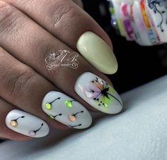 Nail Art Designs and Colors for Summer Spring Nails, Summer Nails, Builder Gel Nails, Light Nails, Latest Nail Art, Classy Nails, Glitter Nail Art, Perfect Nails, Nail Inspo