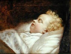 Young Frederick Asleep At Last ~ George Elgar Hicks 1824-1914