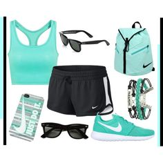 Sport by apcquintela on Polyvore featuring polyvore, moda, style, NIKE and Ray-Ban