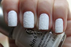 """let it snow"" diy tutorial at FabFatale.com  totally digging the texture"