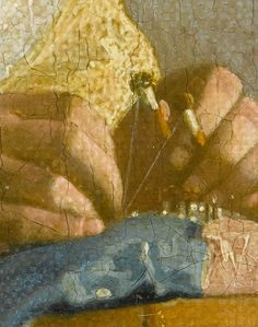 """(Detail) """"The Lacemaker"""" Johannes Vermeer"""
